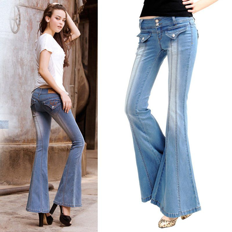 a2e19d0826da13 pictures of bell bottoms pants this spring | spring-new-style-womens -embroidery-blue-denim-long-pants-designer-bell .