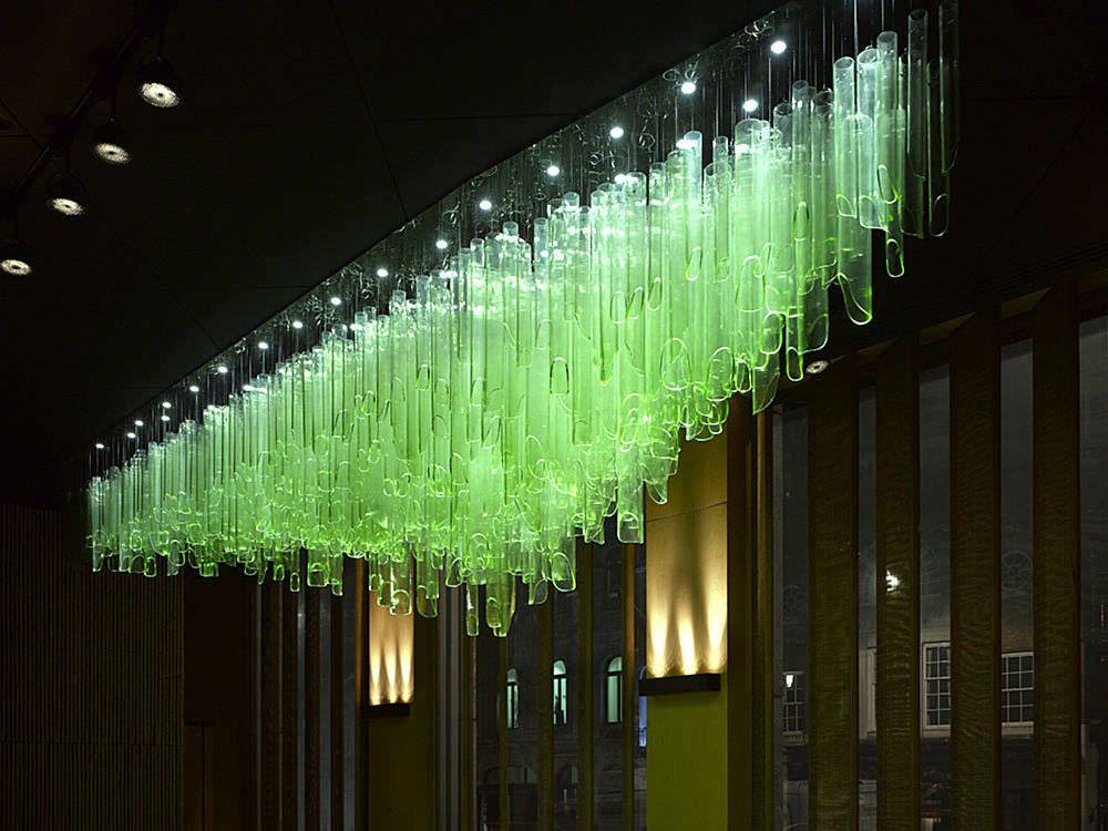 Pop of green luminous outrageous home decorations and rooms pop of green luminous blown glass chandelierglass aloadofball Gallery