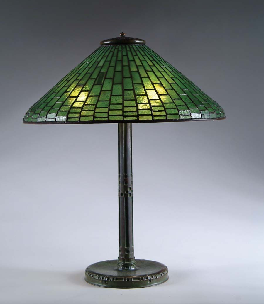 Authentic Antique Tiffany Studios Table Lamp With A Plain