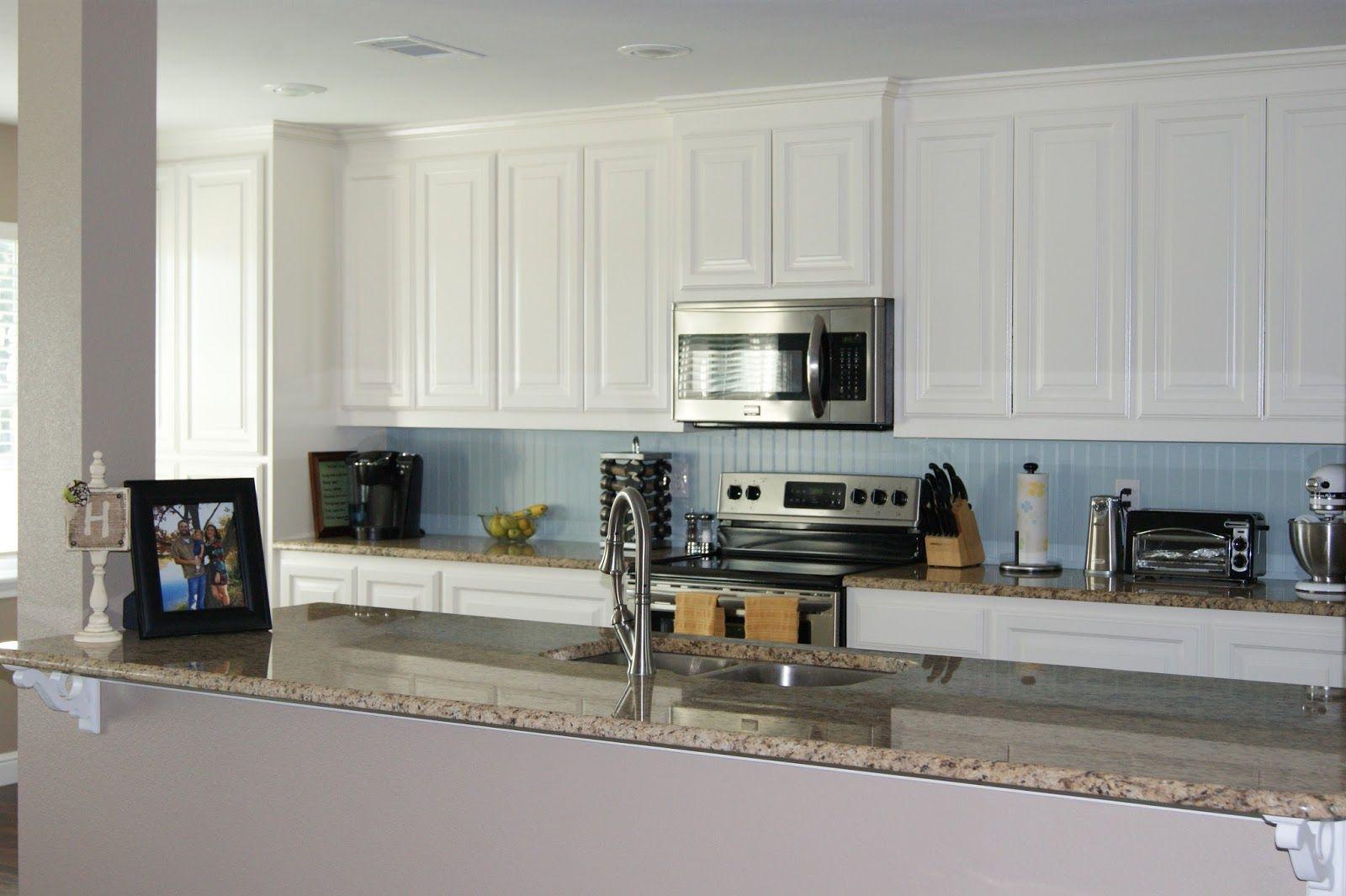 colored beadboard backsplash - Google Search   Kitchen ...