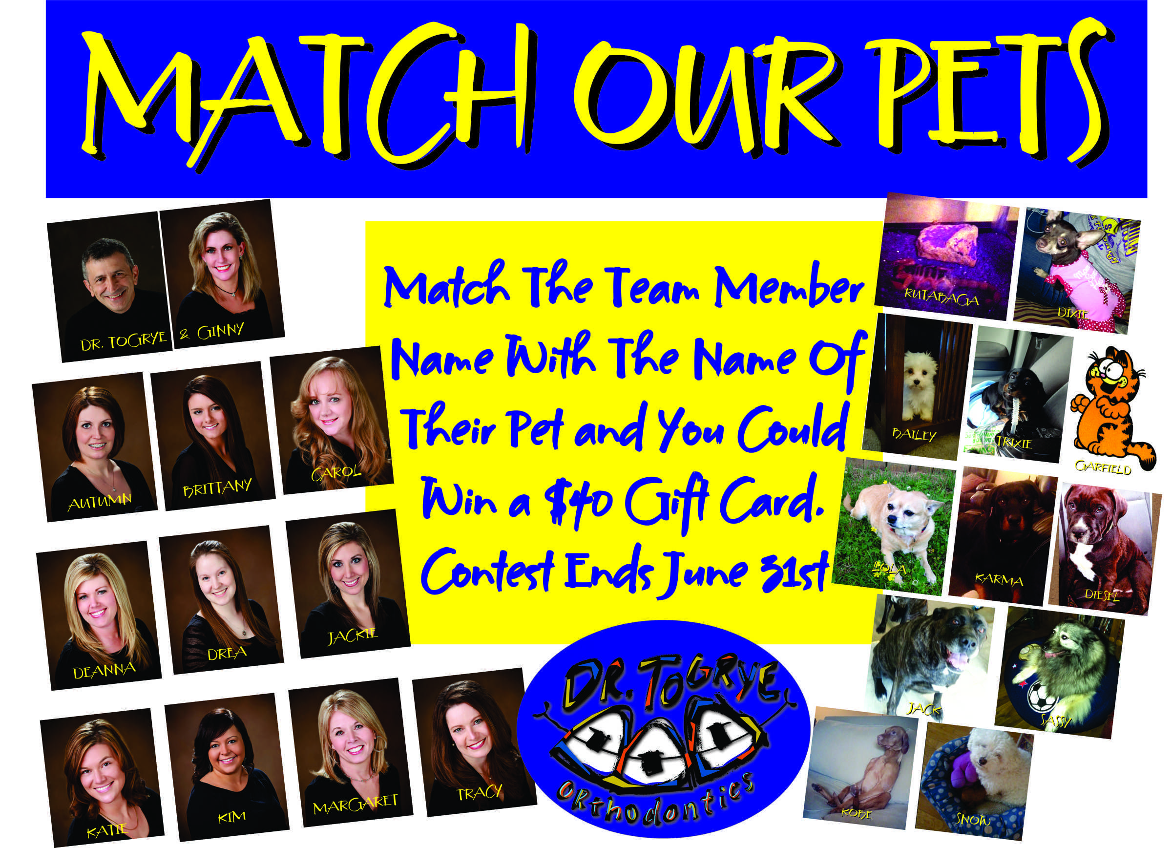 office fun ideas. match the team member name with of their pet and you could win a orthodontics marketingoffice gamesoffice managementdental caremarketing ideasfun office fun ideas