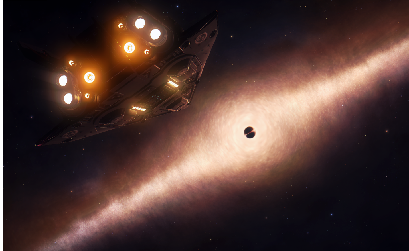 Schwarze Locher Verzerren Das Licht Um Sich Herum Wie Eine Gigantische Linse Wahrend Aus Ihrem Dunklen Kern Jenseits Des Milchstrasse Schwarzes Loch Astronomie