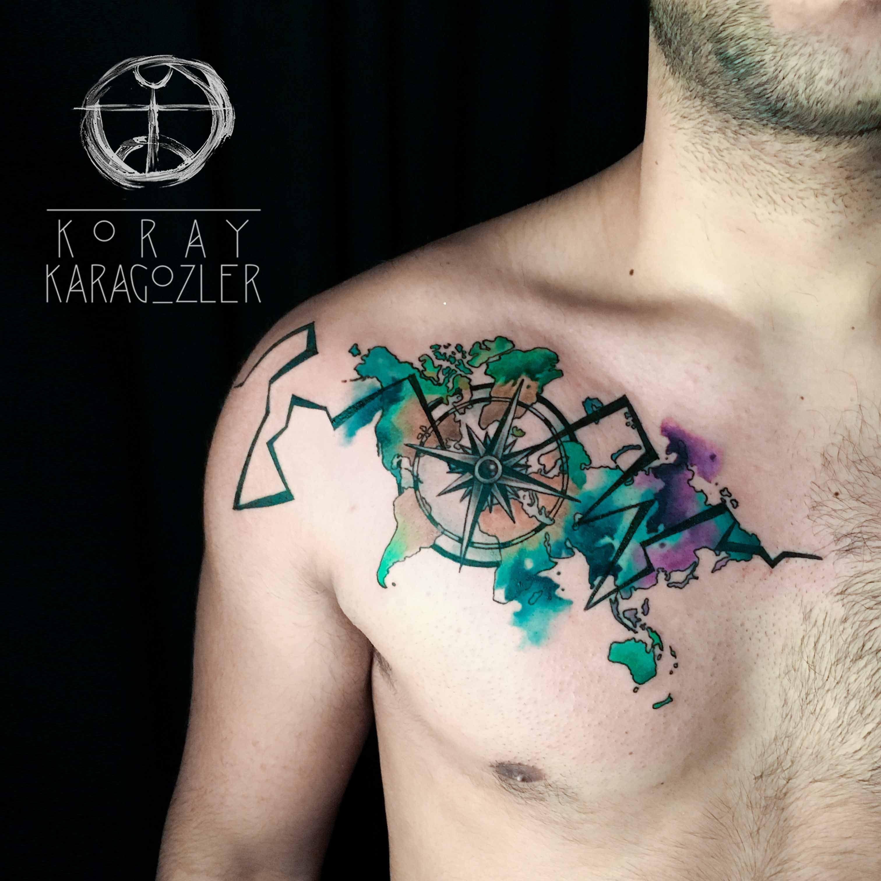 Abstract Compass Customtattoo Tattoo Tattooart Watercolor