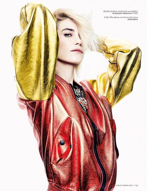 Colourful metallic jacket... In love.