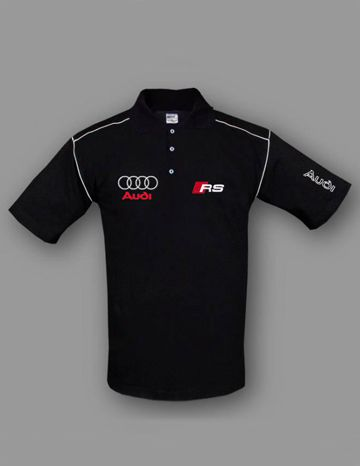 Audi Rs Polo T Shirt 100 Cotton Logo On Front And Back Size S