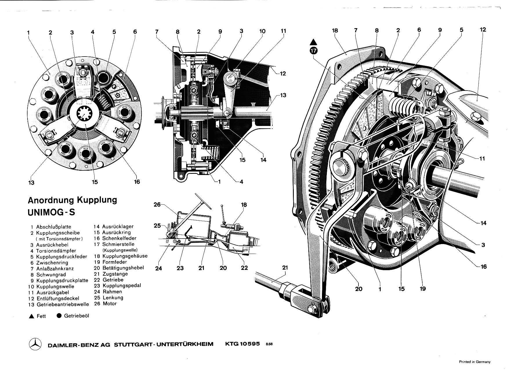 Unimog Drawing  Clutch Kupplung  4x4  Pinterest  Engine 4x4