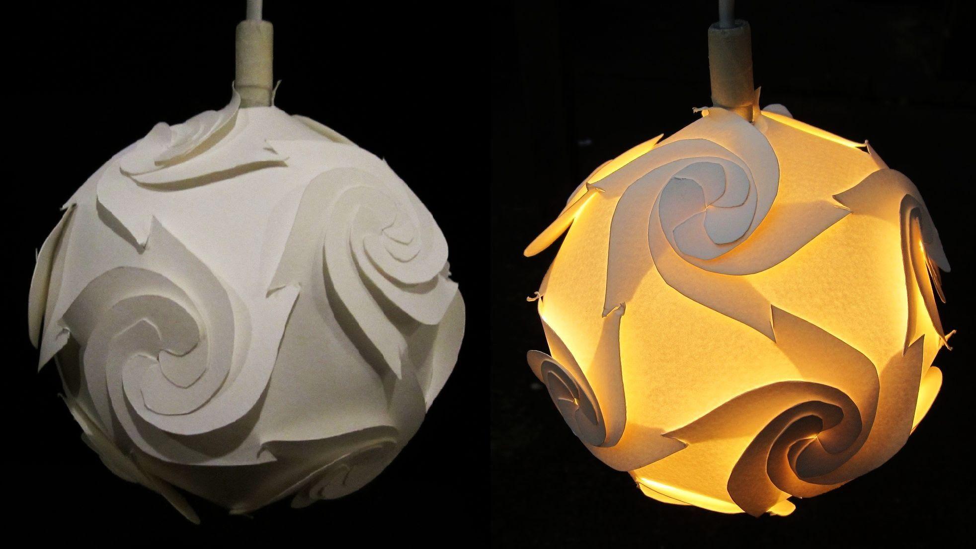 diy papierlampenschirm zyklon lernen wie eine papierlampe laterne zu machen indem. Black Bedroom Furniture Sets. Home Design Ideas