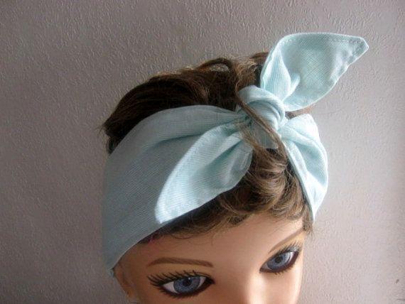 Hair Bandana Mint Hairband Dread Wrap Hair by CrochetnMoreByAlida