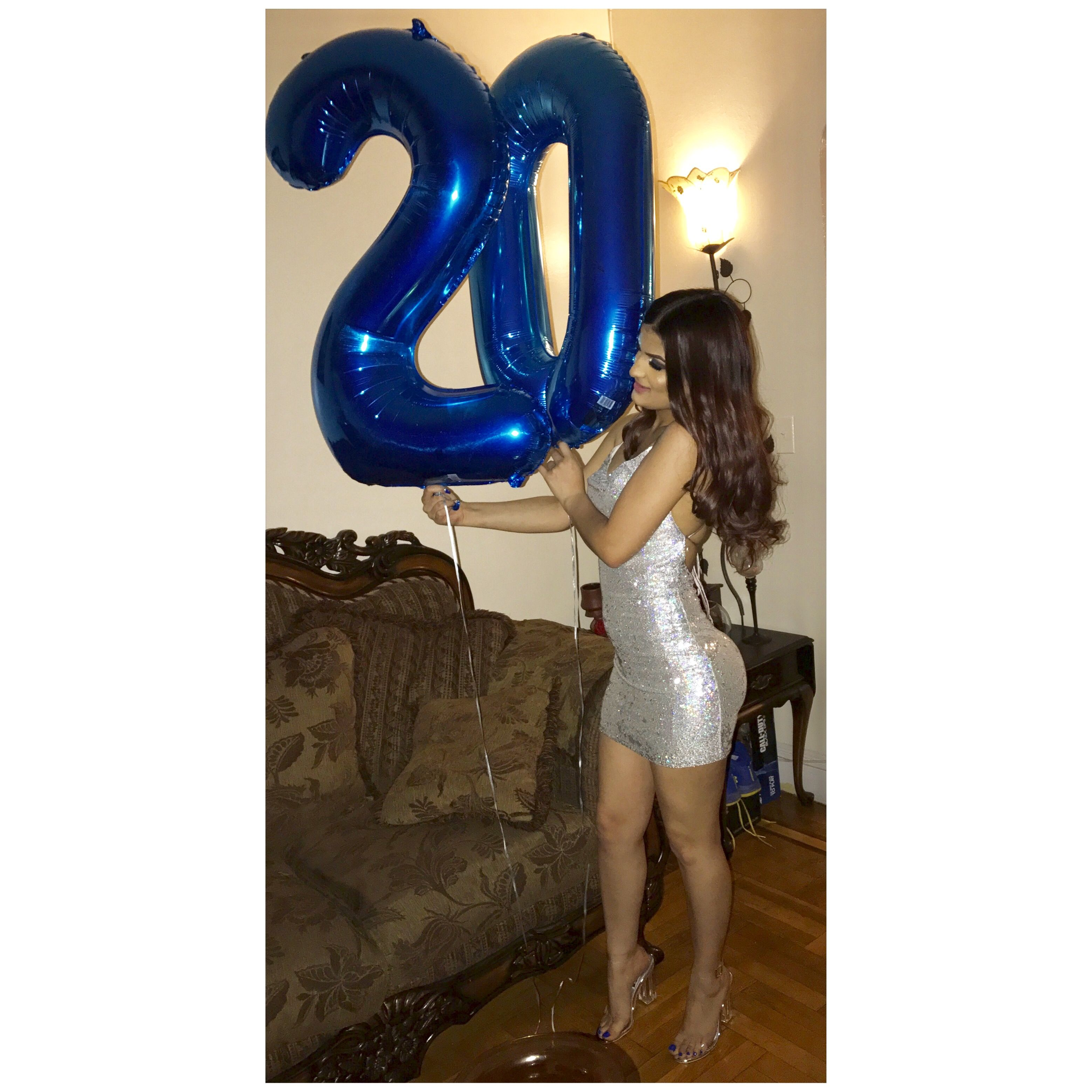20th Birthday idea 20th birthday outfit Outfit idea 20th idea Birthday ideas  Royal blue and silver Makeup Birthdayu0027s girl #Dress #Birthday20th #Silver  ...