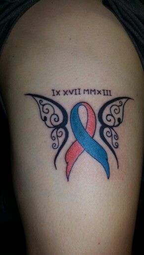 miscarriage ribbon tattoos pinterest tattoo. Black Bedroom Furniture Sets. Home Design Ideas