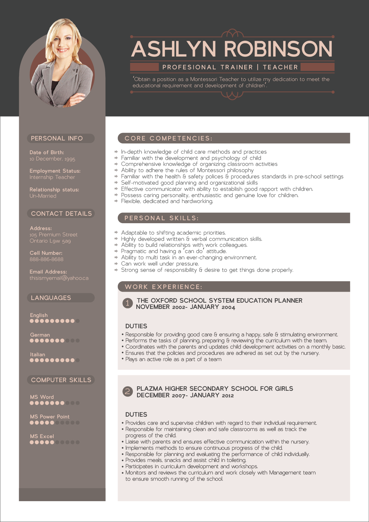 best functionl resume template 2018
