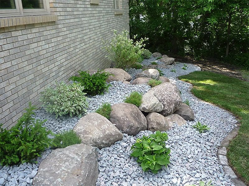 Landscaping Around House With Boulders Rocks And Shrubs Rock Garden Landscaping Landscaping With Rocks Landscaping Rock