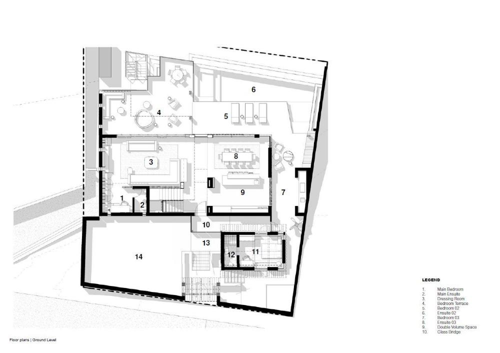 Gallery Of Cape Villa House Arrcc 33 Ground Floor Plan Villa Floor Plans