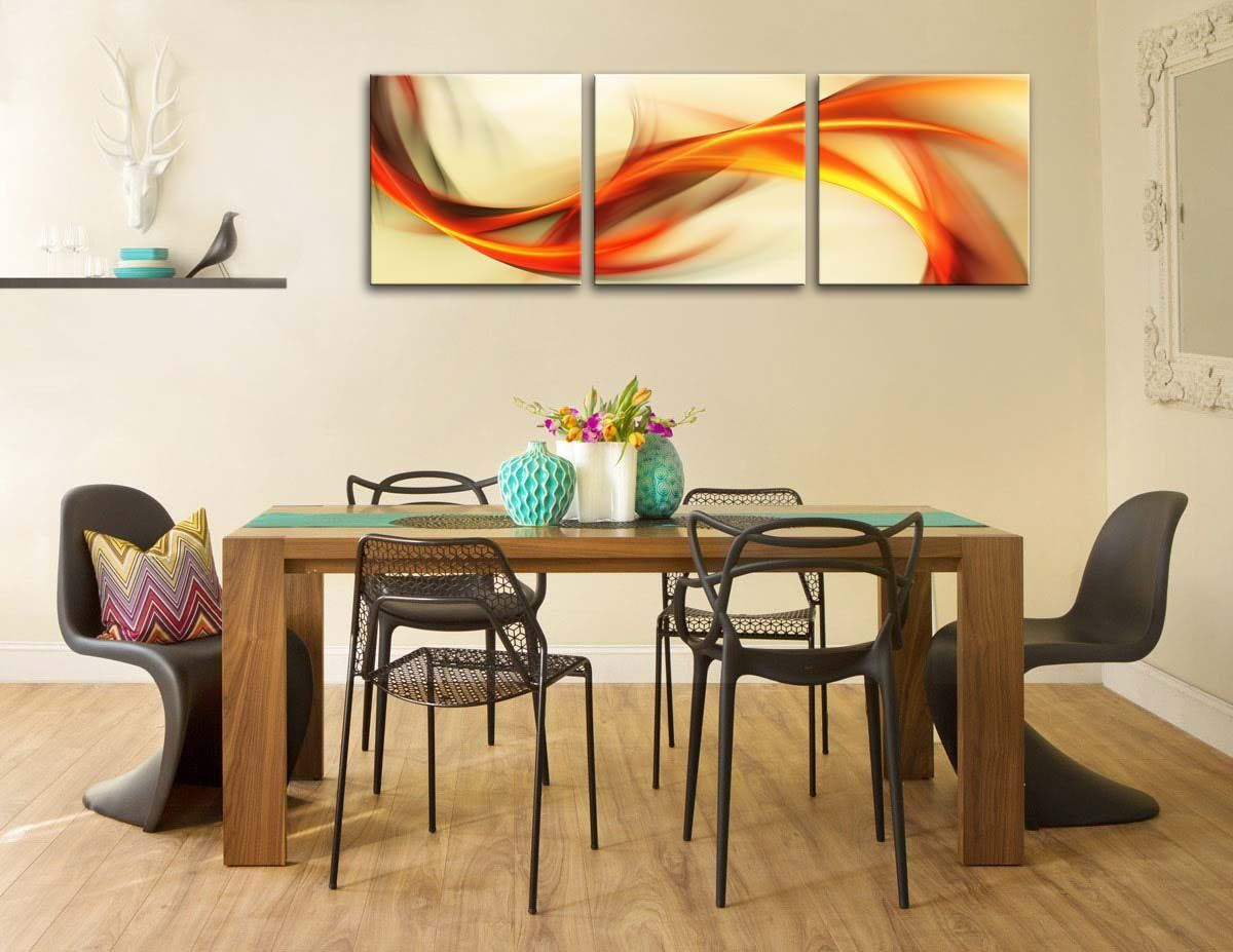 Canvas print wall art painting for home decor abstract elegant wavy