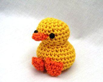 Mini amigurumi duck PDF crochet pattern