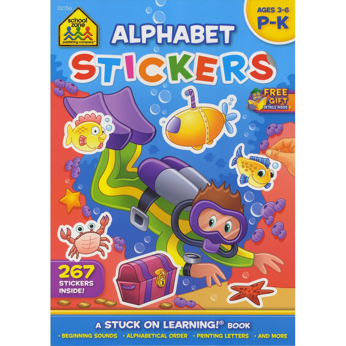 Sticker Workbook-Alphabet Fun - Grades P-K