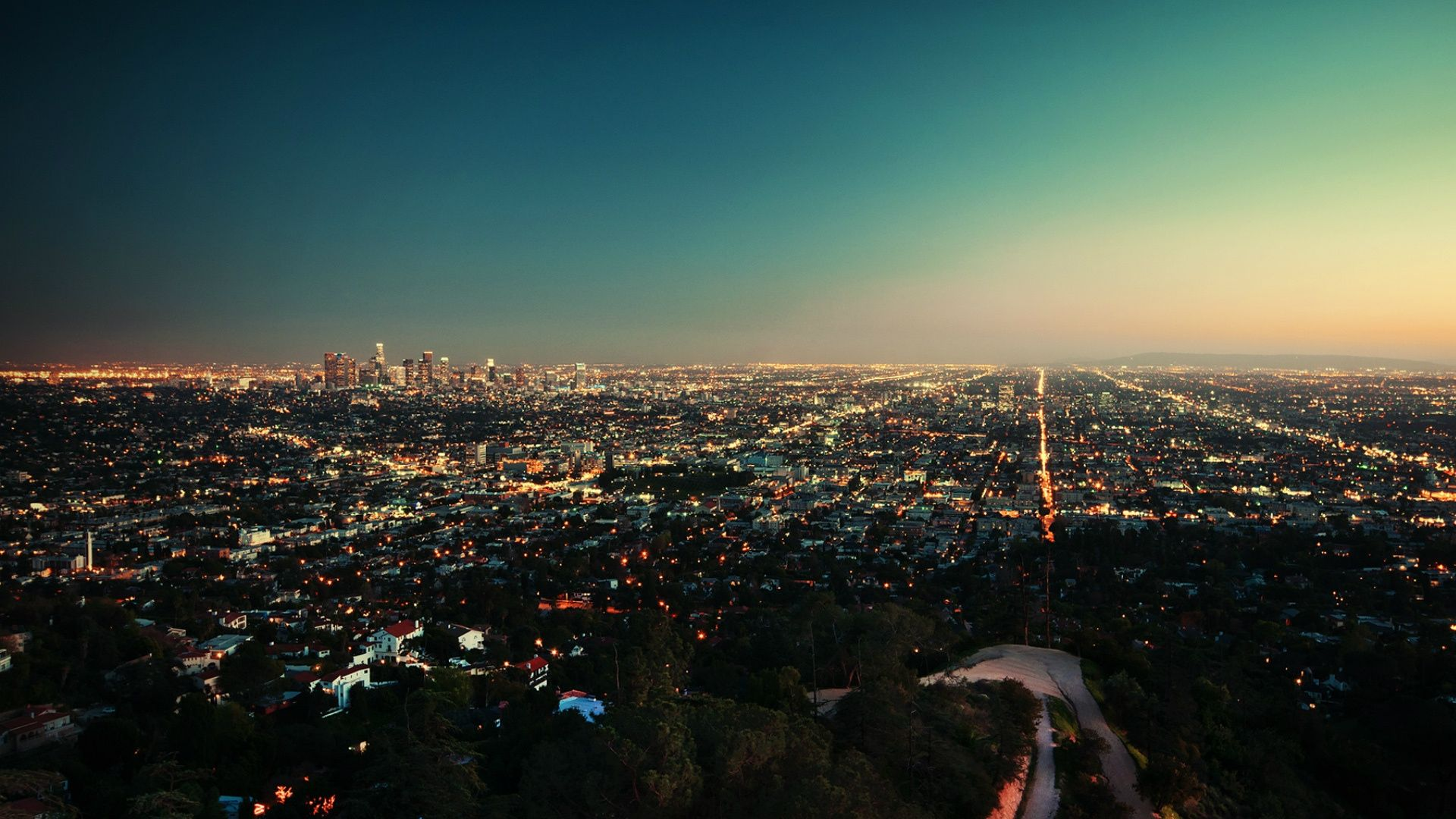 Download Wallpaper 1920x1080 Sunset Usa Los Angeles Building Top View Full Hd 1080p Hd Backgrou Los Angeles Wallpaper California Wallpaper Sunset Wallpaper