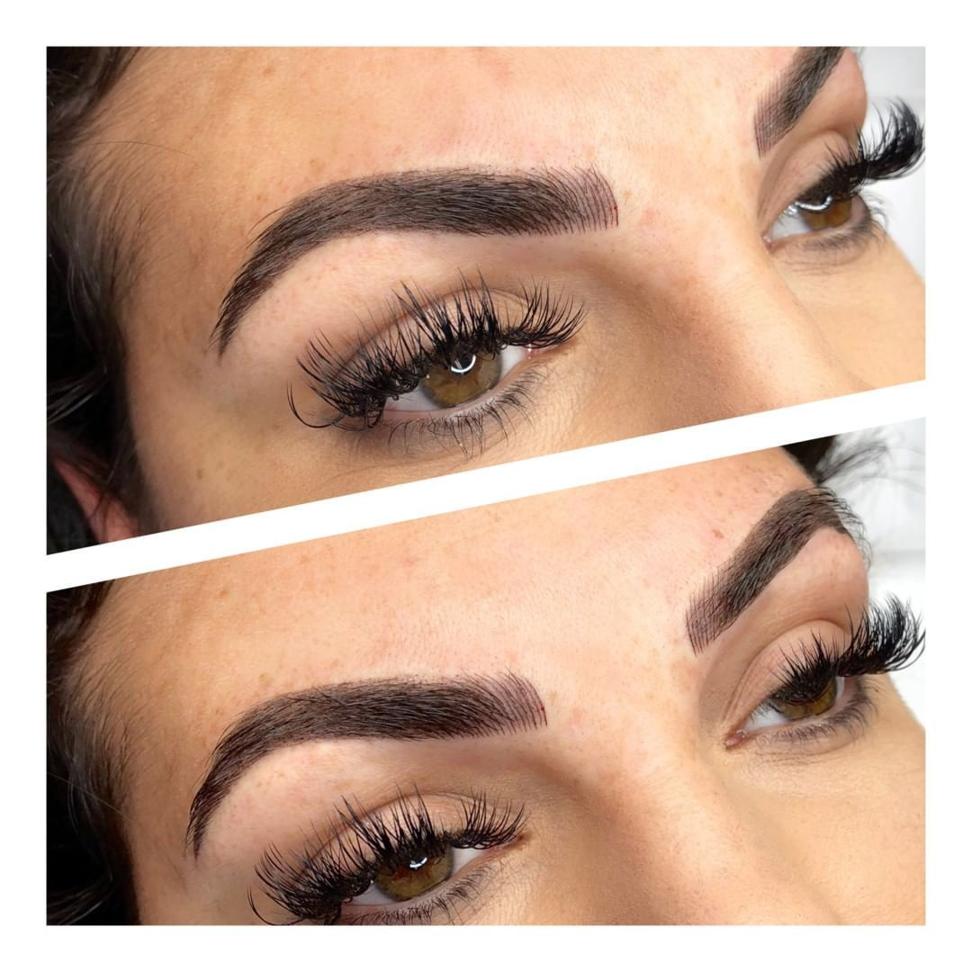 Microshaded Combo Brows including soft and fluttery