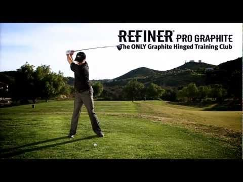The Refiner Is A Dual Adjustable Hinged Golf Swing Training Aid Designed To Hit Golf Balls And Instantly Pin Point Where A Flaw Swing Trainer Golf Golf Swing