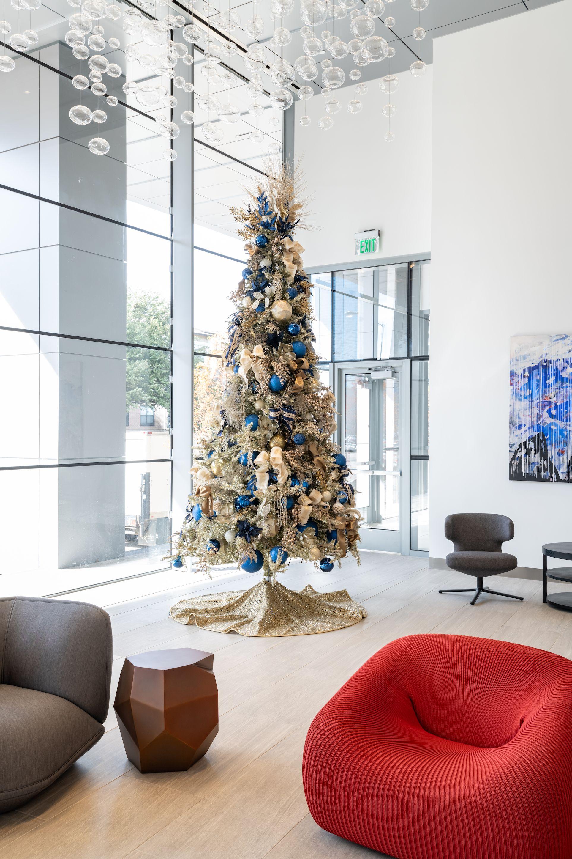 Commercial Christmas Lobby Decor Christmas Decorations Living Room Office Christmas Decorations
