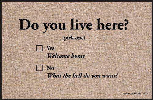 Do You Live Here Funny Doormat Funny Welcome Mat Door Mat