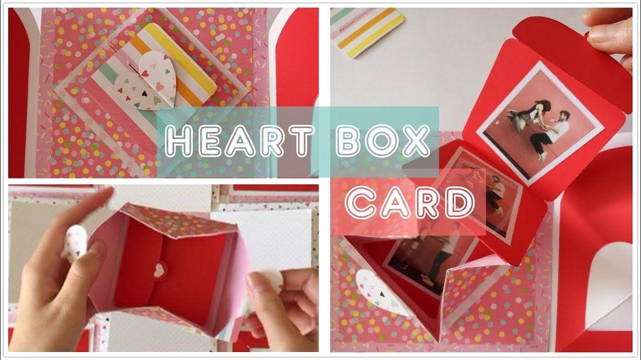 Diy heart box card tutorial explosion box idea youtube diy heart box card tutorial explosion box idea youtube m4hsunfo
