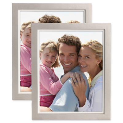 Muse 8 X 10 Wood Picture Frame In Silver White Set Of 2 Picture On Wood Picture Frame Sets Wood Picture Frames