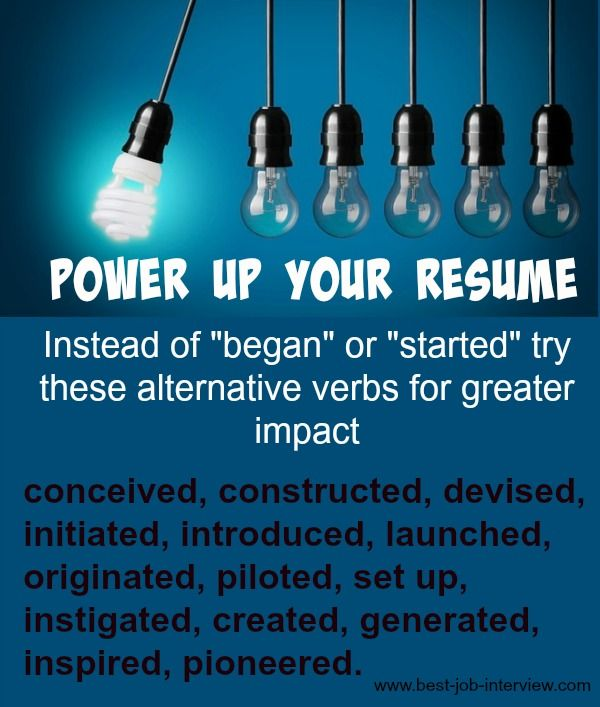 power up your resume with effective resume action words job