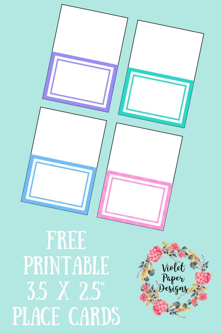 Free Printable Place Cards   ~ MOM BLOGGER ROUNDUP ~   Pinterest ...