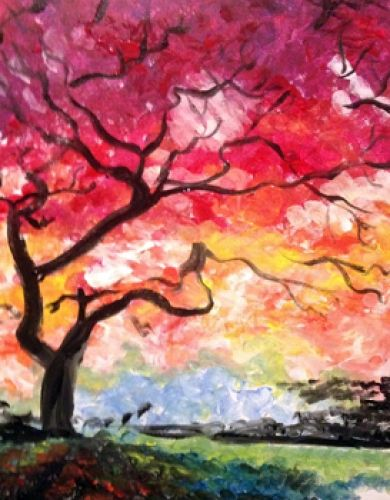Tree Painting For Beginner Autumn Trees Paint N Painting