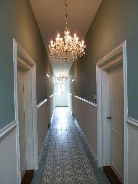 Turqoise gang herenhuis living pinterest herenhuis kleur en interieur - Deco entreehal ...