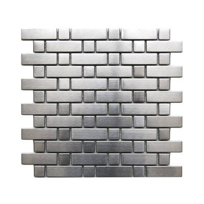 Brick And Square Pattern Mosaic Tile