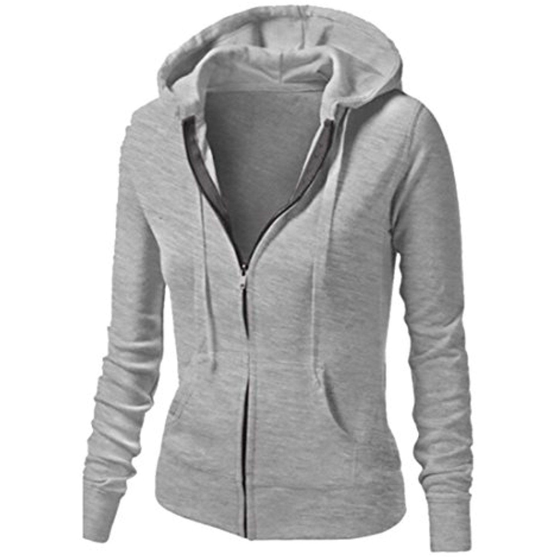 WSPLYSPJY Women Long Sleeve Hoodie Colorblock Sweatshirt Pullovers