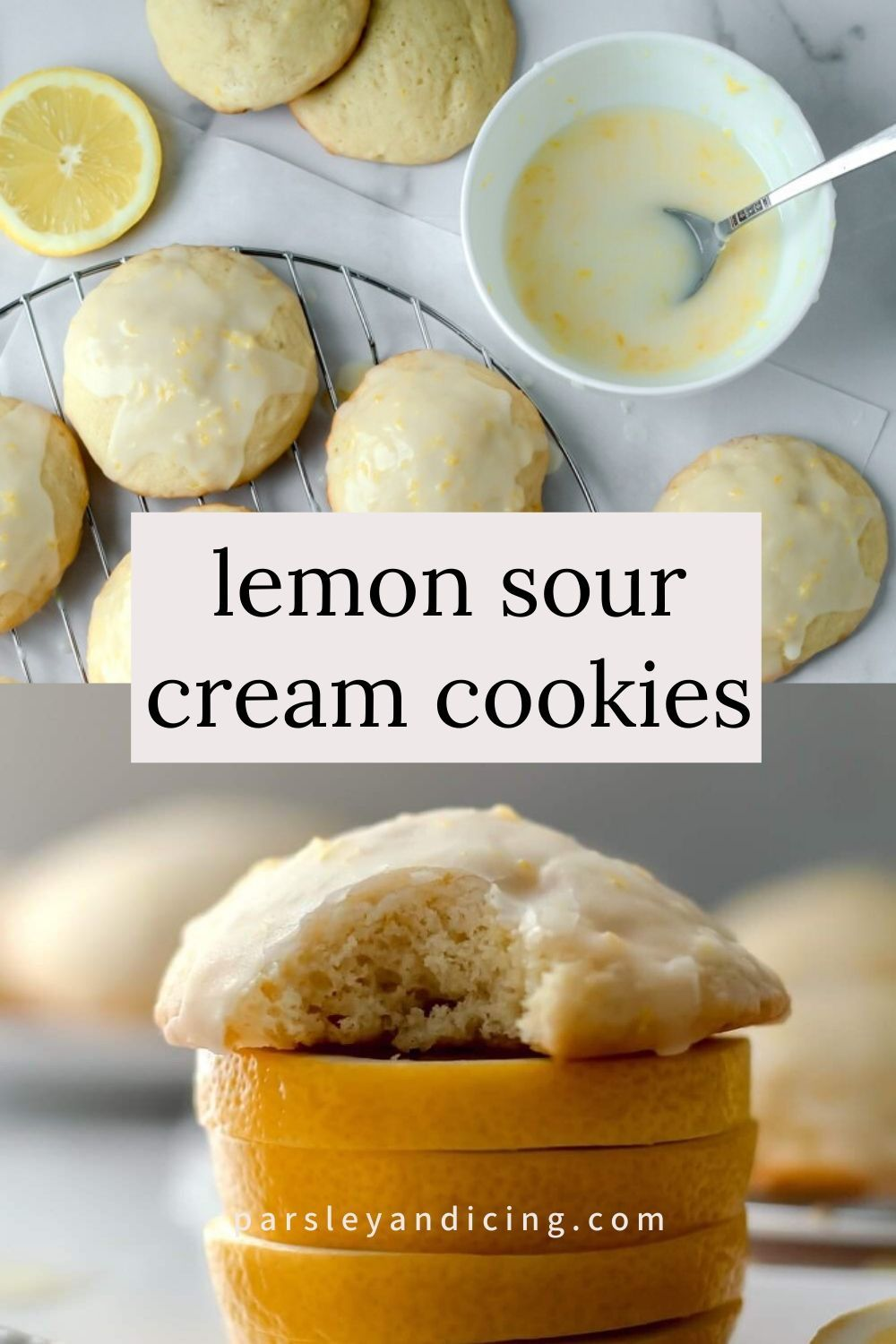 Lemon Sour Cream Cookies Parsley And Icing Recipe In 2020 Sour Cream Cookies Sweet Cookies Lemon Recipes