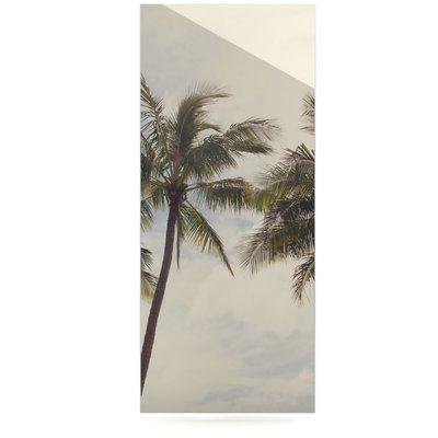 "East Urban Home Coastal Trees 'Boho Palms' Photographic Print on Metal Size: 20"" H x 16"" W x 1"" D"