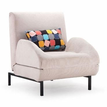 Zuo Conic Arm Chair Sleeper Cement Body & Color Block Back
