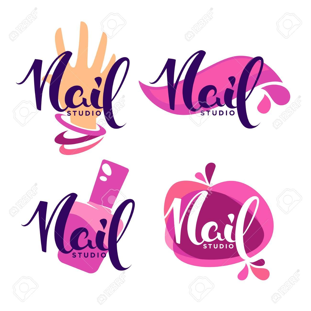 vector logo template for oyur Nail Stusio and manicure