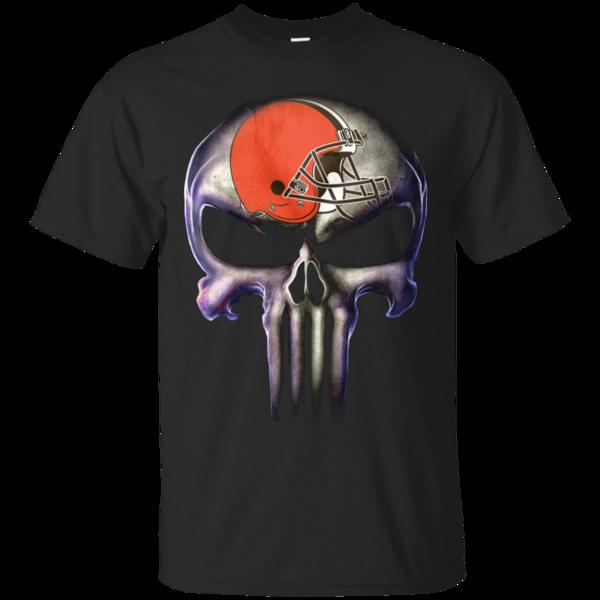 The Punisher T shirts Cleveland Browns Hoodies Sweatshirts