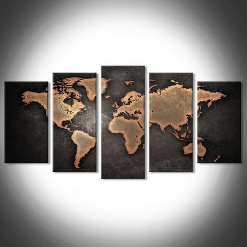 Copper world map multi panel canvas wall art geography and geology copper world map multi panel canvas wall art gumiabroncs Choice Image