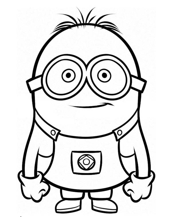 Minion, Stuart is Ready for Adventure The Minion Coloring Page ...