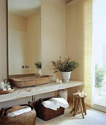 Loving A Tall Mirror / in the bathroom ➤ http://CARLAASTON.com/designed/tall-luxury-bathroom-mirror