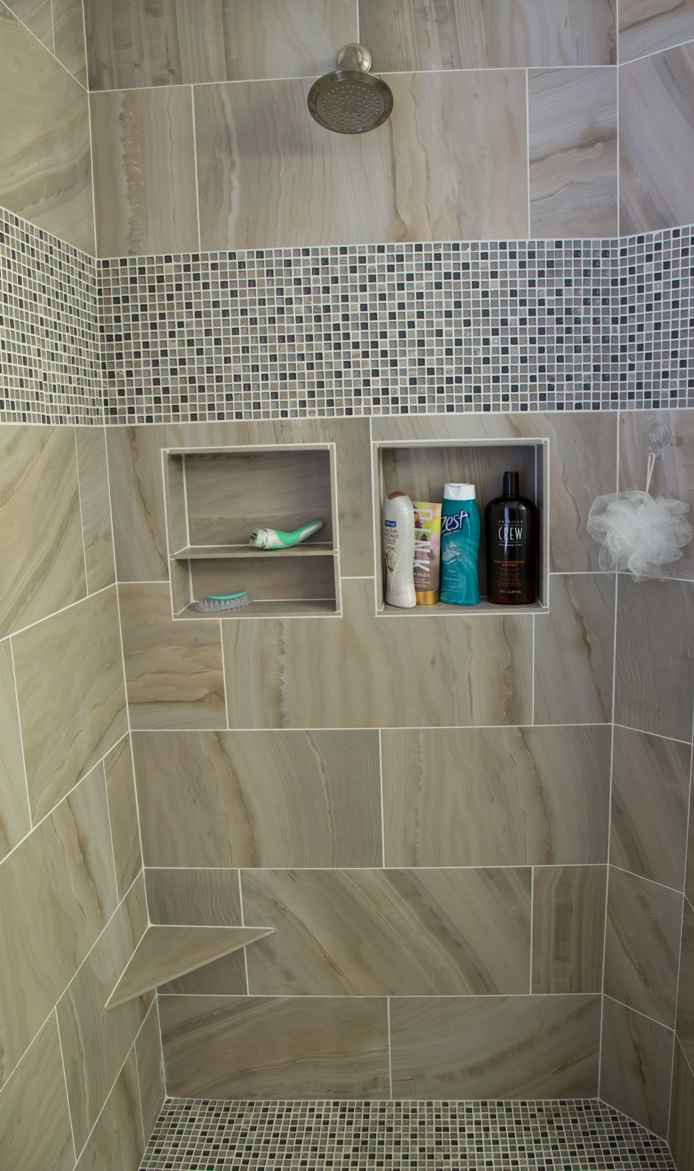 Built In Soap And Shampoo Niches Should Be Included In The Design Of Your Custom Shower Bathroomd Custom Bathroom Cabinets Bathrooms Remodel Bathroom Design