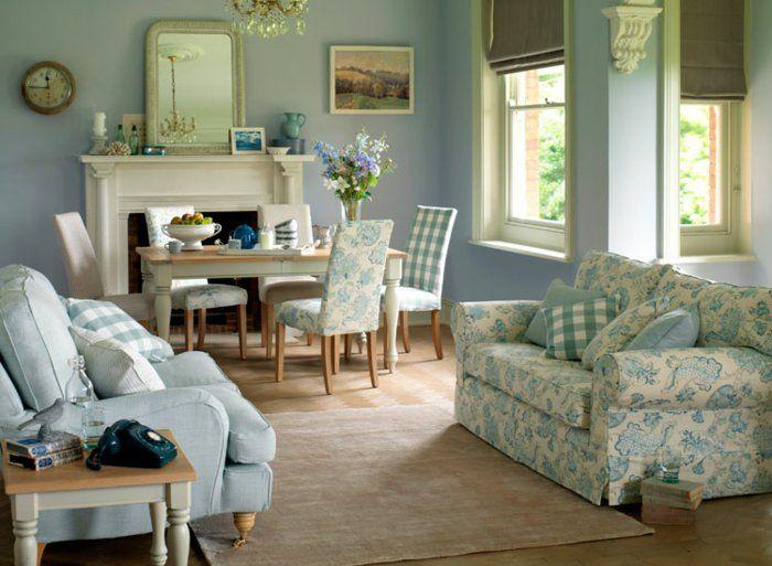 landhausstil einrichtungsideen wohnzimmer essbereich Innendesign - wandgestaltung landhausstil wohnzimmer