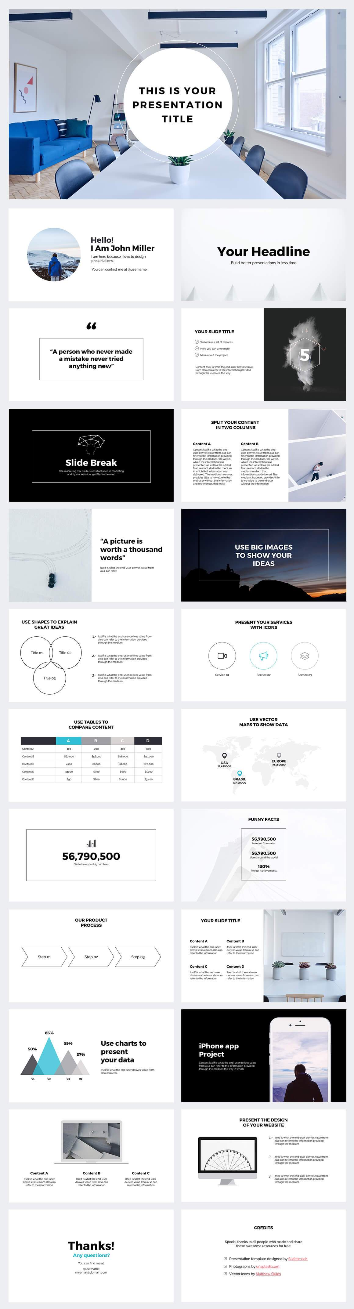 business strategy powerpoint template large-preview | Free ...