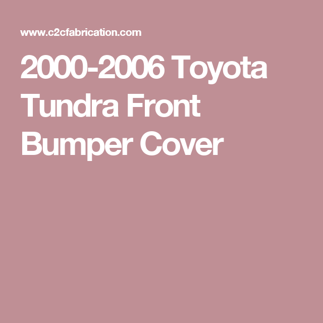 Pin On 2000 Tundra