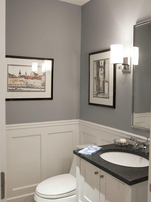 Benjamin Moore Pikes Peak Gray Bathroom Wall Color House Ideas