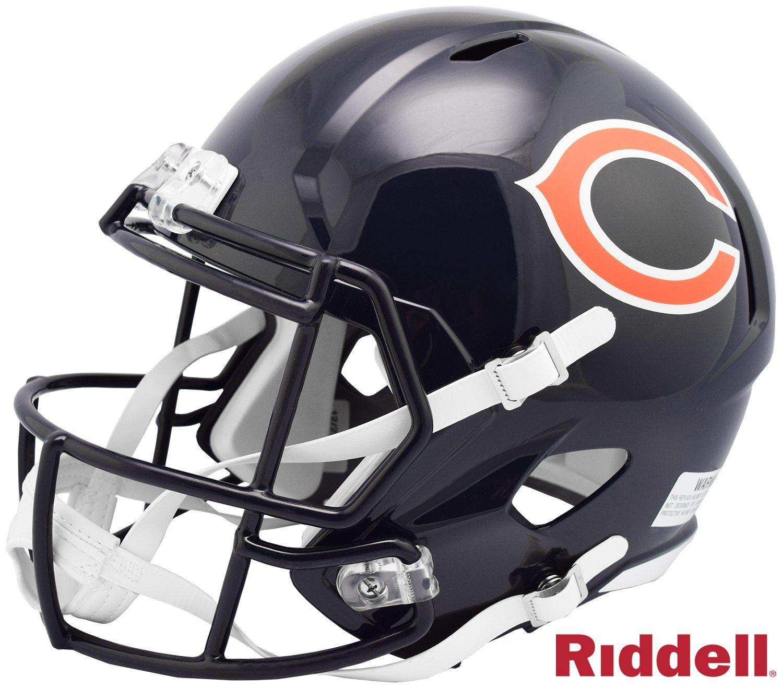 Chicago Bears Helmet Riddell Replica Full Size Speed Style 100th Season Design Special Order Chicago Bears Helmet Chicago Bears Helmet