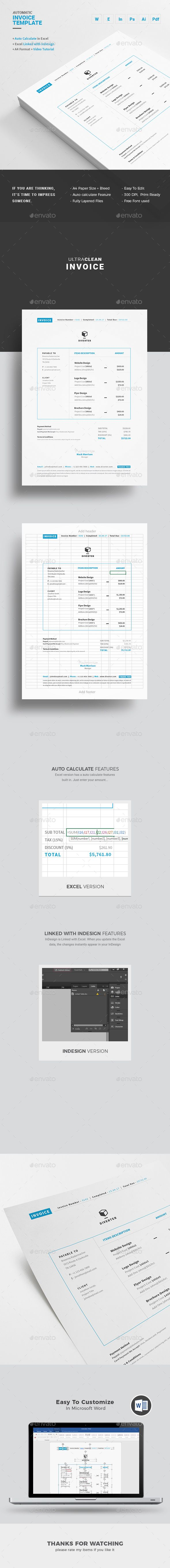 Invoice  Template Brand Identity And Business Proposal
