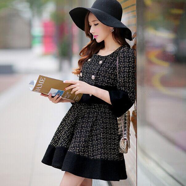Barato Dabuwawa lã tweed saia 2015 outono inverno boneca rosa, Compro Qualidade Saias diretamente de fornecedores da China:                             Nova chegada clik aqui:                                          Http://www.aliexpress.com/s