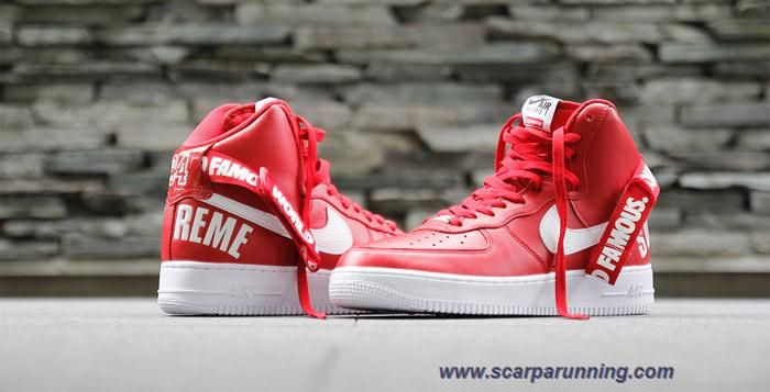 Nike Air Force 1 High rosso